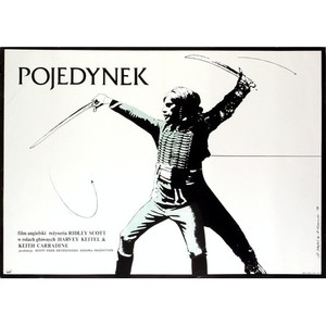 Pojedynek, polski plakat...