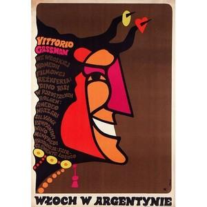 Włoch w Argentynie,  plakat...