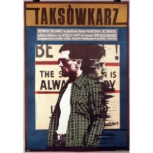 Taksówkarz, polski plakat...