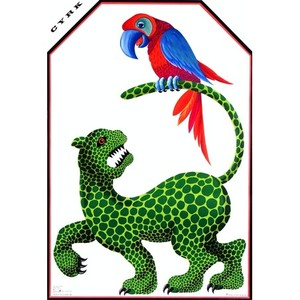 Jaguar with Parrot, Polish...