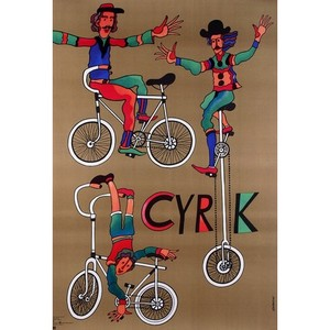 Acrobats on Bicycles,...