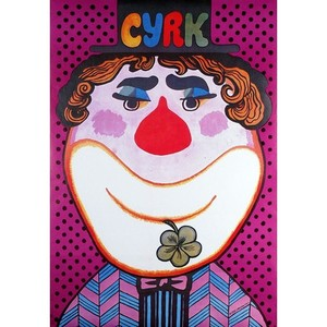 Clown with a Flower, Polish...