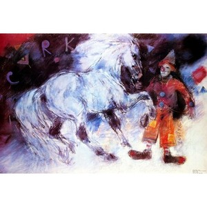 Horse and Clown, Polish...