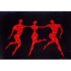 Ballet Evening, Polish Poster