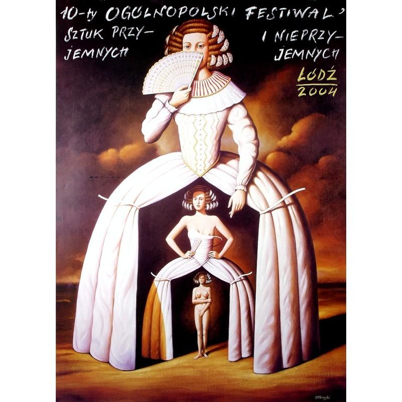 10 Festiwal Sztuk Przyjemnych I Nieprzyjemnych Polski Plakat Festiwalowy Rafał Olbiński Polish Poster