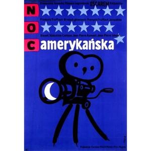 Noc amerykańska,  plakat...