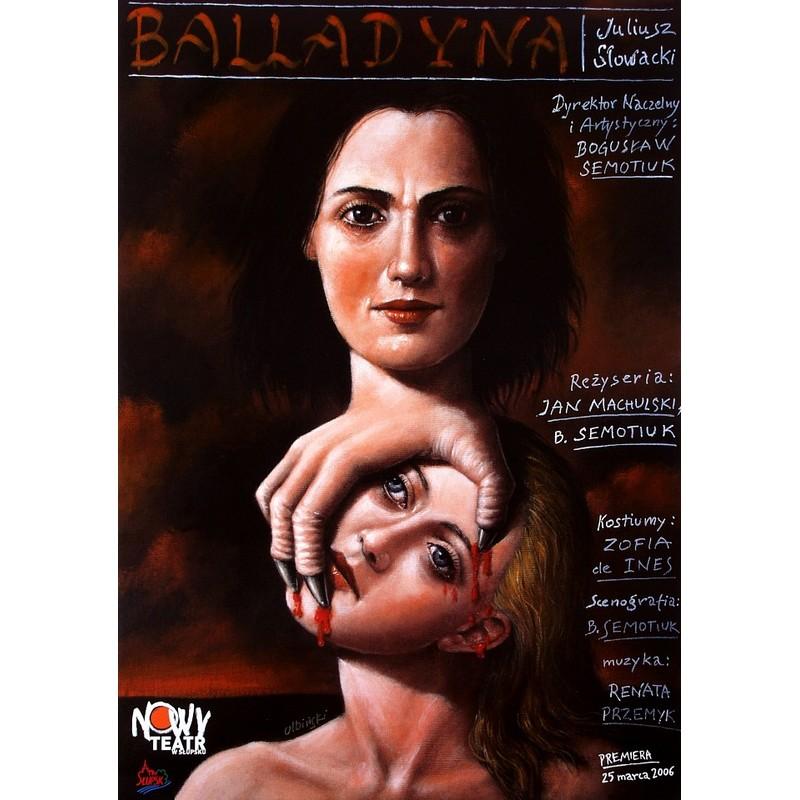 Balladyna Polski Plakat Teatralny Rafał Olbiński