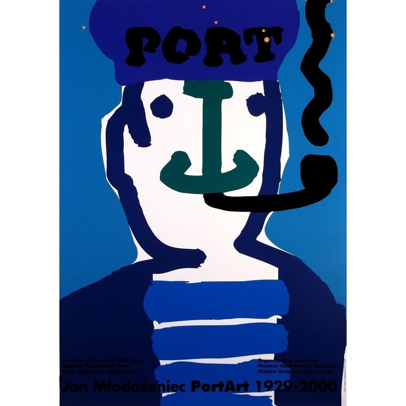 Jan Mlodozeniec Port Art 1929-2000, Polish Poster