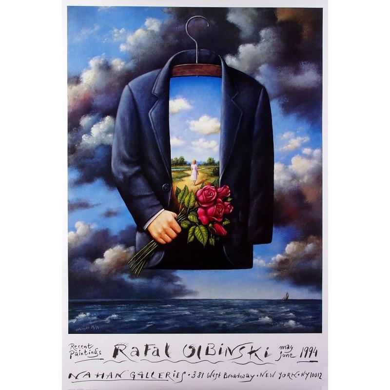 Rafal Olbinski Recent Paintings 1994 Polski Plakat Wystawowy Rafał Olbiński