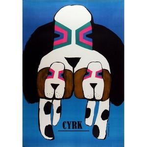 3 Dogs, Polish Circus Poster
