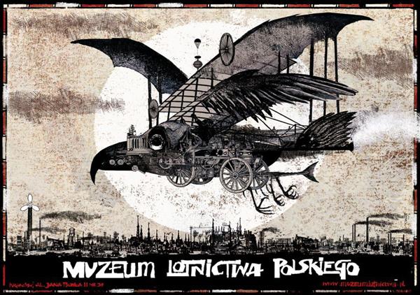 Muzeum Lotnictwa Kraków Polski Plakat Reklamowy