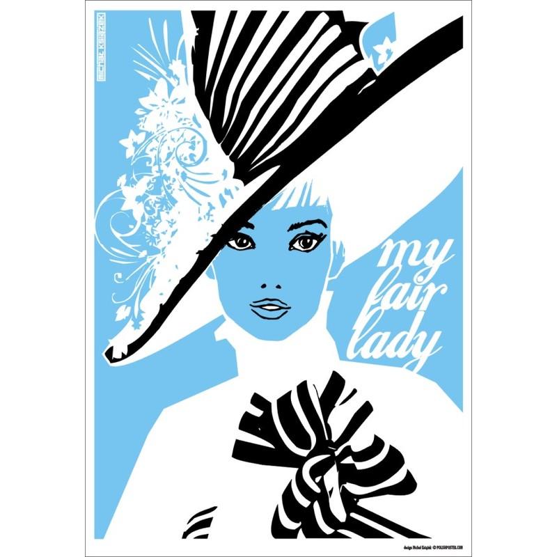 My Fair Lady Audrey Hepburn Polski Plakat Filmowy Michał Książek