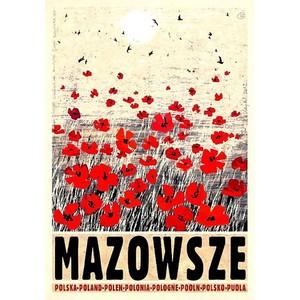 Mazowsze, polski plakat...