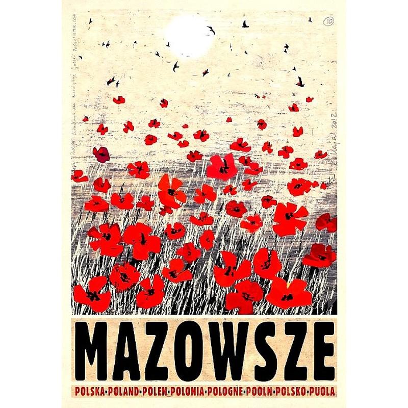 Mazowsze Polski Plakat Turystyczny
