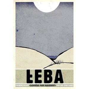 Łeba, polski plakat...