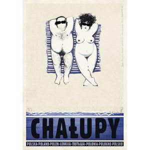 Chałupy, polski plakat...