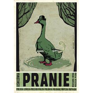 Pranie, polski plakat...
