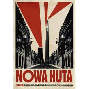 Nowa Huta, polski plakat...