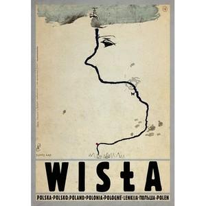 Wisła, polski plakat...