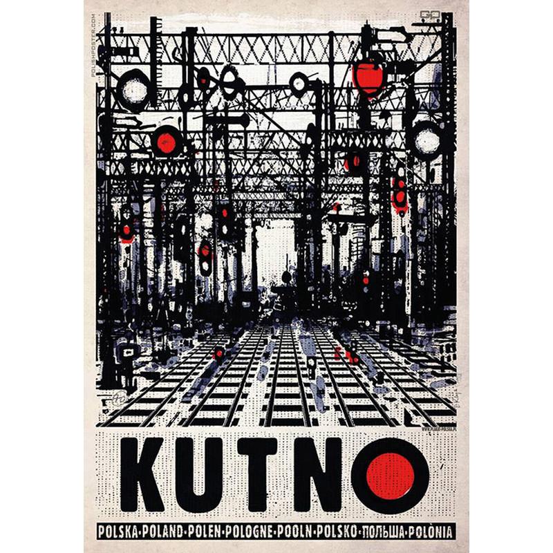 Kutno Rozjazdy Kolejowe Plakat Ryszard Kaja