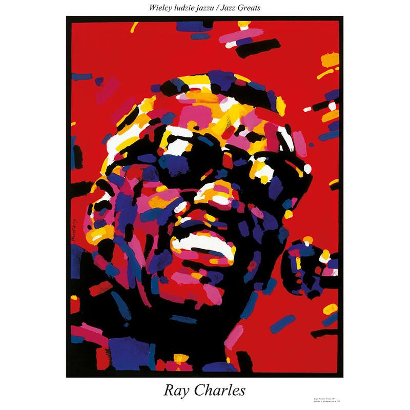 Ray Charles Plakat Z Serii Jazz Greats Waldemar świerzy