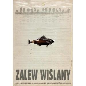 Zalew Wiślany, plakat z...