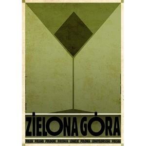 Zielona Góra, plakat z...