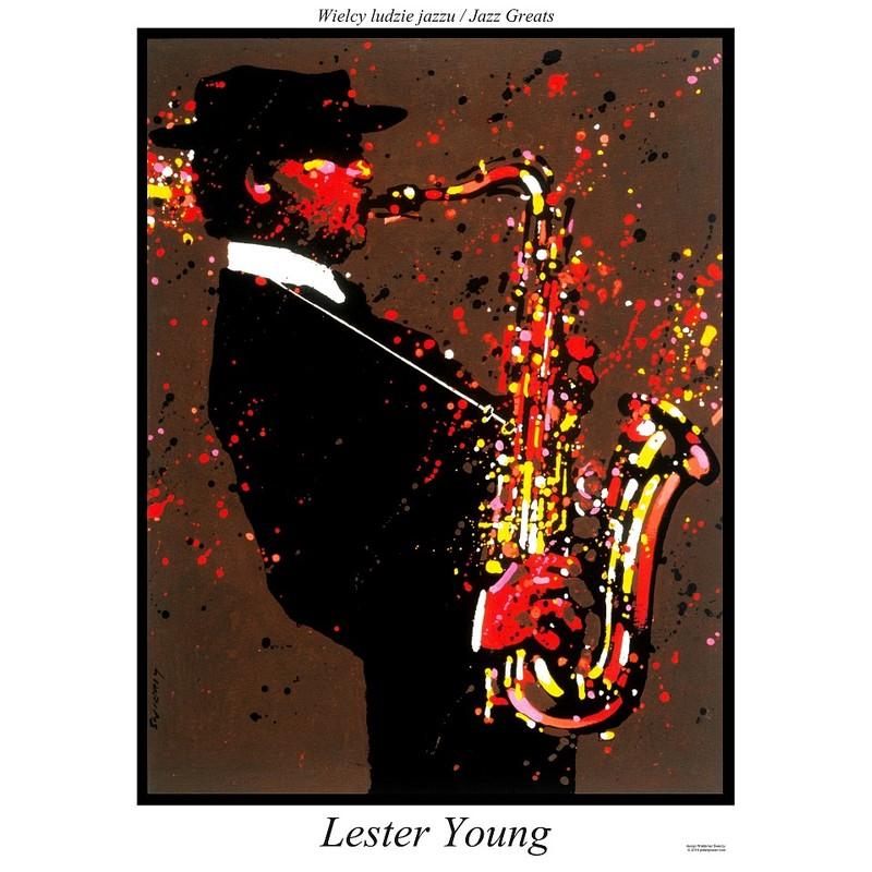 Lester Young Plakat Z Serii Jazz Greats Waldemar świerzy