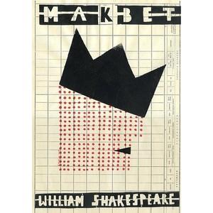 Makbet, plakat teatralny,...
