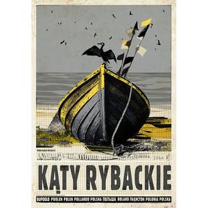 Kąty Rybackie, plakat z...