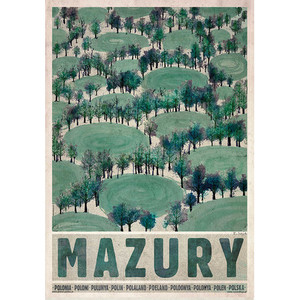 Mazury-wiosna, Plakat z...