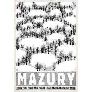Mazury-zima, plakat z serii...
