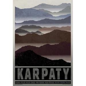 Karpaty, plakat z serii...