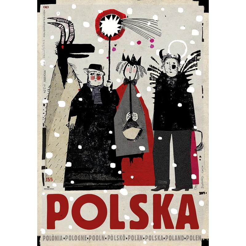 Polska Kolędnicy Plakat Ryszard Kaja
