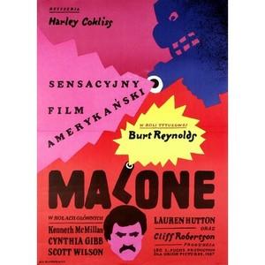 Malone, polski plakat filmowy