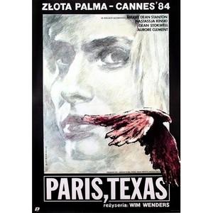 Paris, Texas, polski plakat...